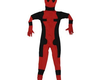 Deadpool Costume With Mask Cosplay Spandex Movie Wade Winston Wilson Superhero Villain Halloween Super Merc Dead Pool Suit Gift High Quality