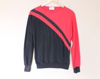 1980s Vintage Colorblock Knit Top