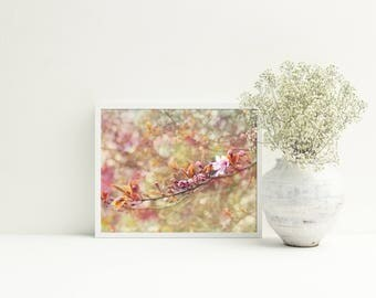Bedroom pink decor, Living room floral art, digital download art pink, Flowering tree photo, PRINTABLE picture blush pink, Japan flowers art
