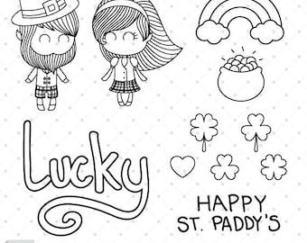 St Paddys Charms - Digital Stamp Set
