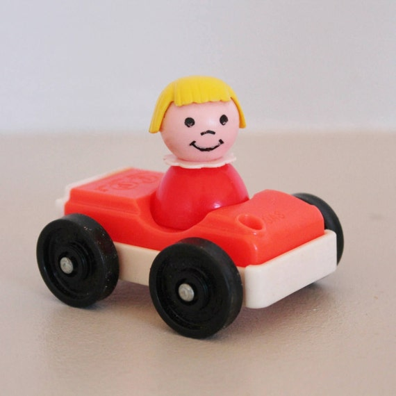 Little People Fisher Price Vintage Red Car The Little People