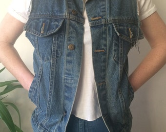 Blue Jean Denim Vest