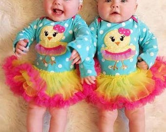Chick Tutu Onesie special for Spring and Easter