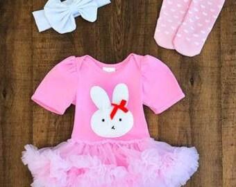 Pink Tutu Onesie with bunny