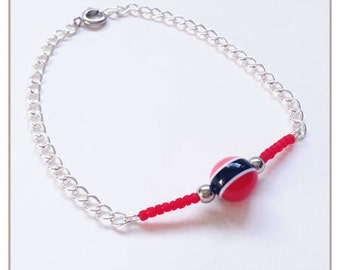 "Red ""Rainbow Collection"" bracelet"