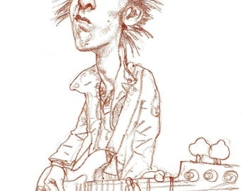 Sid Vicious musician art illustration portrait by CF Payne