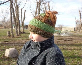Relaxed Messy Bun Hat Pattern