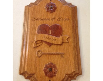 Heart and Key Anniversary Plaque