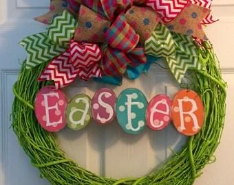 Easter twig wreath