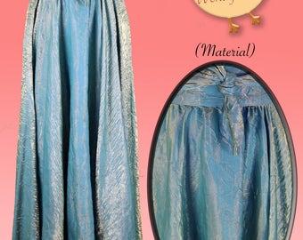 Aquamarine Shimmer Mermaid Skirt