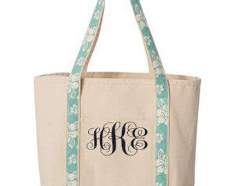 Monogram Beach Tote - 15 Colors Available