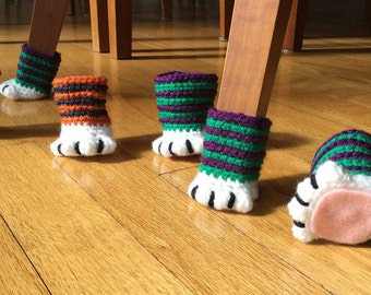 Free Pattern For Cat Paw Chair Socks