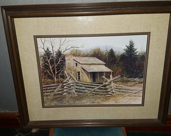 John Oliver Cabin - Smokey Mountain Cades Cove - Limited Edition Print