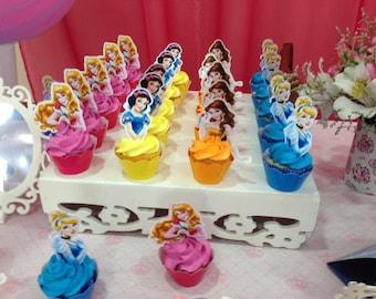 Digital Disney Princess Cupcake Toppers [DOWNLOADABLE - You print]
