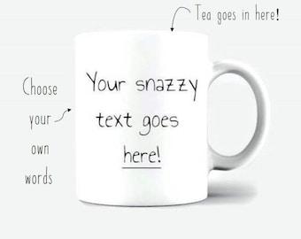 Custom Mug - Personalised Mug - Bespoke Mug - Custom Name Mug - Customised Mug - Birthday Gift Ceramic Mug - Coffee Mug 350gsm Glossy
