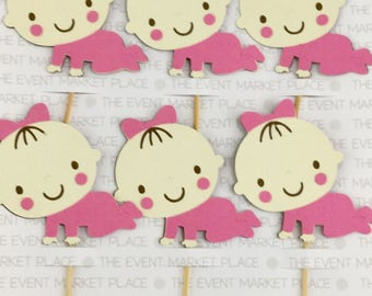 Baby Girl Cupcake Topper