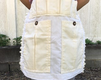 Egg apron,gardening apron,homesteading apron,half apron,cotton,gathering apron,farm apron,produce and harvest