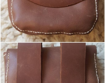 Leather Viking Purse | Handbag belt-purse wallet bag billfold coin purse moneybag middle-age nordic barbarian