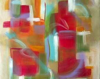 Original Abstract Painting, High Quality Acrylic, Framed