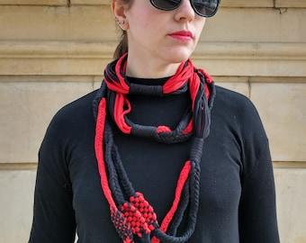 Scarf necklace pendant scarf cotton trapillo