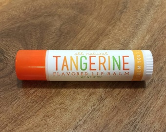 TANGERINE Lip Balm - All Natural - Homemade