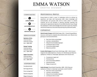 resume template professional resume template instant download creative resume template for word resume with cover letter