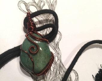 Green Aventurine Wire Wrap