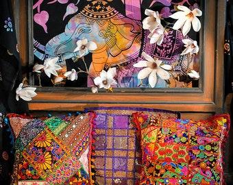 Indian cushions Bohemian hippie chic bohemian - style boho - style gypsy