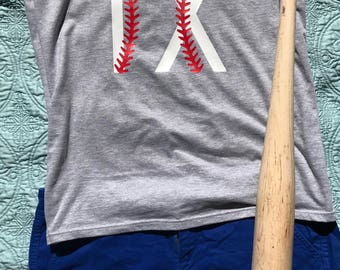 Texas Baseball, TX, Women's Tank, Game Day, Tailgating, Baseball, Red Stitches, Texas Rangers, Texas