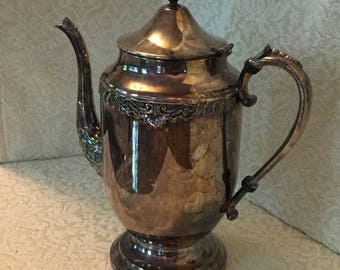 Silver Plated Tea or Coffee Pot Sheridan Silver Co. c1940s