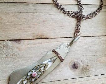 Butter Knife & Stone Pendant