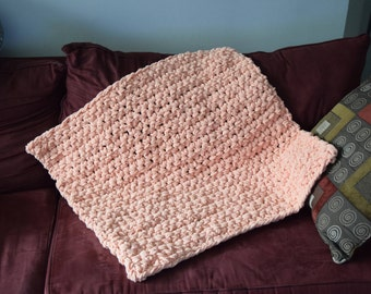 Finger Crocheted Baby Blanket