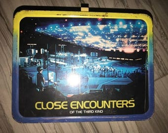 Close Encounters of the Third Kind metal lunch box 1977-1978 Columbia Pictures
