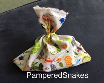 Adorable Snake Sacks in 4 Sizes for Carrying, Shipping, or Storing Snakes in an Emergency