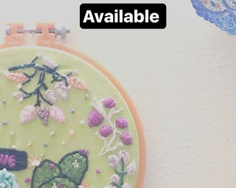 Baby embroidery hoop wall