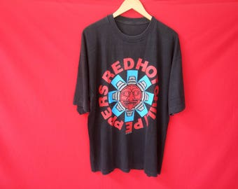 vintage Red hot chili peppers grunge band music concert mens xlarge t shirt