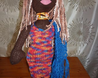 "Hand Knitted ""Babe"" Doll 22 inches,"