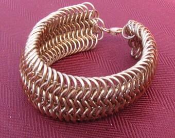 Bronze Chainmaille Cuff Bracelet