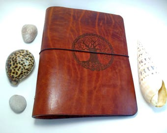Wicca Tree of Life Leather Journal Cover Refillable Classic 6 Ring Binder A5 Organizer Notebook College School Supplies Back to school