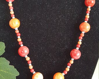 Beautiful gemstone necklace and earrings jewelry set