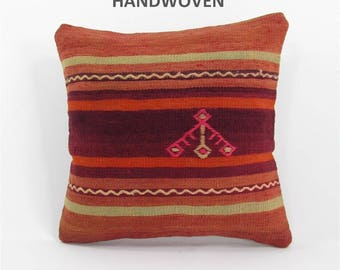 kilim pillow cover throw pillow kilim pillow case decorative pillow turkish cushion tapestry rustic pillow farmhouse decor home decor 000089