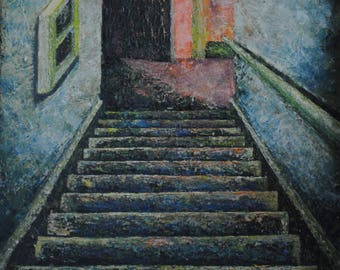 The Way Out: oil painting print