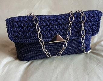 Midnight Blue clutch bag