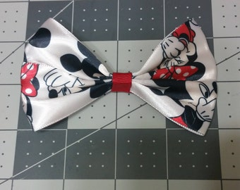 Mickey Mouse and Minnie Mouse hair Bow