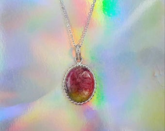 Solar Quartz  Sunset Pendant