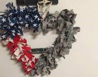 American flag / uniform wreath