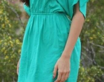 Cold Shoulder Dress- Green