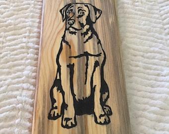 Labrador Inlay Wall Carving