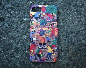 Dinosaur Skateboard Colorful Vintage Hipster Design Hard PC Case For Iphone 6/6plus/6s/6s Plus/7/7 Plus Samsung Galaxy Oppo Vivo Huawei