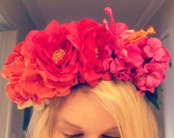 Tropical Boho Flower Crown